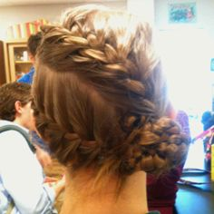 Megan's amazing double braided bun! :)