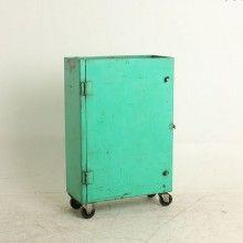 Vanha rautakaappi, vaaleanvihreä http://www.rentodesign.fi/koti_sisustus/huonekalut/vanha-rautakaappi