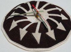 Tapestry Crochet Clock Face