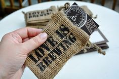 Unique wedding invitations with a coffee theme by Mrs. They smell like coffee, too! Craft Beer Wedding, Brewery Wedding, Burlap Wedding Invitations, Bridal Shower Invitations, Wedding Favors, Anniversary Invitations, Unique Invitations, Anniversary Parties, Wedding Stationary