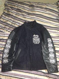 West Coast Choppers Leather Varsity Jacket