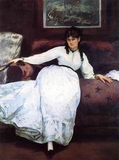 Berthe Morisot peint par Manet