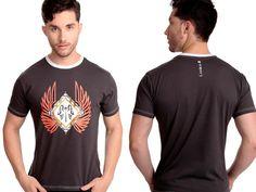 Camiseta Wings | Cód.5040 | Camiseta com silk frontal e gola branca. Elaborado com malha 100% algodão.