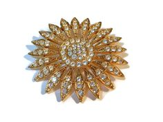 Vintage Sparkling rhinestone and gold plate by maggiescornerstore, $29.00