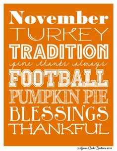 Thanksgiving Subway Art [Orange] 8x10 Photo by Jonescreekcreations   Photobucket
