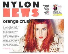 Get the look: orange lips