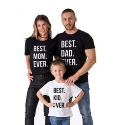 Cheap family matching shirts, Buy Quality family matching directly from China family matching clothes Suppliers: Family Look New 2017 Summer Family Matching Clothes Cotton Father Son Clothes Family Matching Shirts BEST DAD MOM KID EVER Matching Family T Shirts, Family Shirts, Matching Outfits, Kids Shirts, Matching Clothes, Family Tshirt Ideas, Baby Shirts, Toddler Halloween Shirts, Halloween Kids