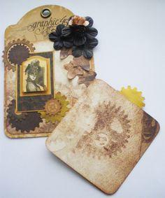 Steampunk Debutante tag/card