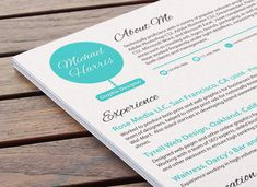 You have to pay but it gives good examples. Artistic CV Design  Avant Garde Clean by ResumeBaker on Etsy, $75.00