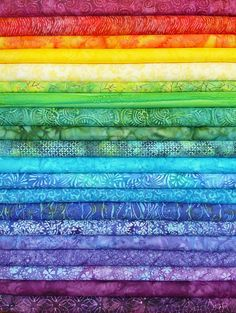 Rainbow Jelly Batik Strips    Batiks in all colors of the rainbow!