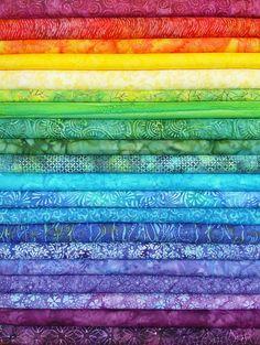 Rainbow Jelly Batik Strips    Batiks in all colors of the rainbow!