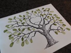SMALL HEART OAK Wedding Guest book tree 16x12  by LastingKeepsakes, $80.00