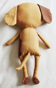 Dog Sewing Pattern Puppy Softie Plush Toy Cloth Doll by ElfPop