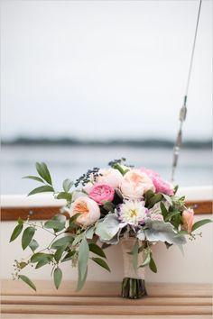 cascading bouquet | pink and blush bouquet | leafy bouquet | garden wedding | #weddingchicks