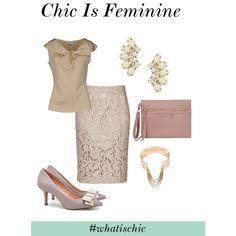 Chic Is Feminine, created by solesociety on Polyvore