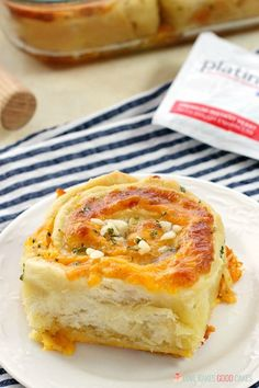 """Tired of the same old garlic bread?! These Cheesy Garlic Bread """"Cinnamon"""" Rolls are crusty, cheesy, and easier than you might think!"""