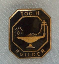 Early WW1 British Military Toc H Builder Talbot House  Gilt Metal Enamel Badge.SOLD.