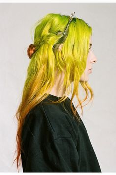 Lime Green #ombre #hair #hairstyle #color