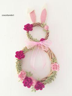 Easter bunny wreath  by giuseppina ceraso crocettando https://crocettando.wordpress.com/2016/02/24/easter-bunny-wreath-tutorial/