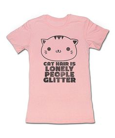 Take a look at the Pink 'Cat Hair' Tee - Women on #zulily today!
