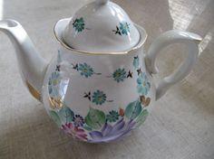 Vintage Porcelain Teapot Vintage Teapot by VintageDelight374