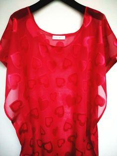 Camicia da notte di Natale rosso Lingerie di HandmadebyNadya