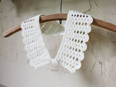 Sale Ivory white detachable collar Winter fashion Gift for her under 25 Vintage inspired Crochet lace Chelsea collar. $15.00, via Etsy.