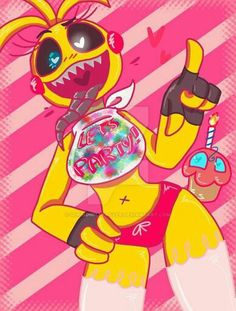 Toy Chica by SpringBelleBunnie on DeviantArt Fnaf Oc, Anime Fnaf, Five Nights At Anime, Five Nights At Freddy's, Fnaf Wallpapers, Fnaf Drawings, Anime Furry, Freddy S, Cosplay