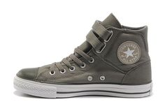 2012 Newest Converse Chuck Taylor All Star Gray Double Pull Buckle High Top Canvas Shoes [512197] - $58.00 : Discount Converse All Star Sneakers Sale,Converse All Star Sandals,Comics and Womens Platform Sneakers