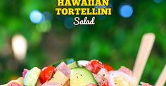 Hawaiian Tortellini Pasta Salad is a like a party in your mouth! It's a blend of your favorite island flavors in a fabulously bright, sweet and tangy summer pasta salad. A simple recipe with an outstanding pineapple-ginger dressing, this will be a hit everywhere you take it.