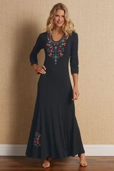 Embroidered Maxi - Embroidered Maxi Dress, Women's Maxi | Soft Surroundings