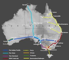 A guide to train travel in Australia Train routes, times, fares & information Visit Australia, Western Australia, Australia Trip, Study Abroad Australia, Australia Travel Guide, Melbourne Australia, Sydney To Adelaide, Australian Road Trip, Train Route