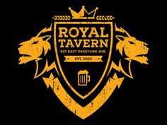 Shirt design logo for a local bar in Philly. The Royal Tavern