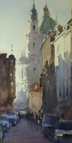 ۩۩ Painting the Town ۩۩ city, town, village & house art - Frank Eber