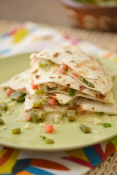 Cactus Salad Quesadilla Recipe.