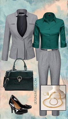 Dress like you mean business Office Outfits, Office Wear, Work Outfits, Timeless Fashion, Fashion Beauty, Classic Style Women, Business Attire, Classy Outfits, Spring Outfits