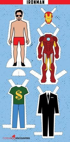 If you're #TeamIronMan for Captain America: Civil War, here's a paper doll for you!