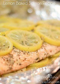 lemon-baked-salmon-recipe by imtopsyturvy.com, via Flickr