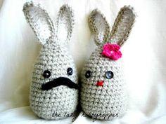 The Lazy Hobbyhopper: Mr. and Mrs. Bernard Bunny - Free pattern
