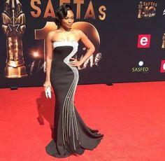 or Hmm…: Bonang Matheba's South African Film and Television Awards Black Mac Duggal Gown Daily Fashion, Fashion News, Black Mac, Strapless Dress Formal, Formal Dresses, Mac Duggal, Queen B, My Wardrobe, What To Wear