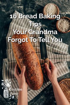 Use these bread baking tips from Grandma and learn how to bake better bread with the perfect rise, chewy, golden crusts, and pillow-y soft crumb. Baking Tips, Bread Baking, Baking Recipes, Baking Hacks, Wheat Bread Recipe, Bread Recipes, Savoury Recipes, Veg Recipes, Kitchen Recipes