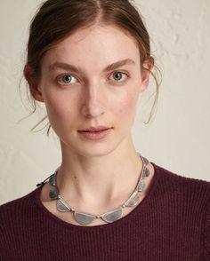 Women's Silver Scallop Necklace