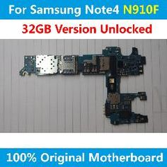 [ $24 OFF ] For Eu Vesion Samsung Galaxy Note 4 N910F Motherboard 32Gb Unlocked Mainboard With Chips Official Logic Board 100% Good Working
