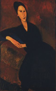 """Anna Zborowska by Amedeo Modigliani Date:1917 Medium:Oil on canvasDimensions:51 1/4 x 32"""" (130.2 x 81.3 cm) Credit Line:Lillie P. Bliss Collection"""