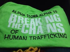Sorority Project: As a new member project Alpha Sigma Alpha's Fall 13 pledge class from Murray State University, promoted Human Traffic Awareness. #MurrayState #AlphaSigmaAlpha @alphasigmaalpha @sororitysugar