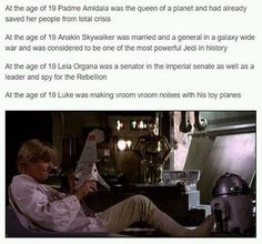 When you realised Luke was the disappointing child.