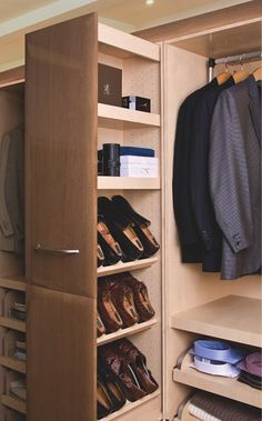 Great idea for man's closet - Neff of Chicago Valet Closets. Call (312) 467-9585 for more information