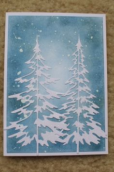 Xmas Cards, Diy Cards, Holiday Cards, Craft Cards, Handmade Christmas, Christmas Crafts, Snowflake Cards, Ink Stamps, Winter Cards