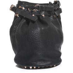Alexander Wang Diego pebble bucket bag ($1,041) ❤ liked on Polyvore