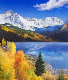 Trout Lake Near Telluride Colorado Painting by R christopher Vest